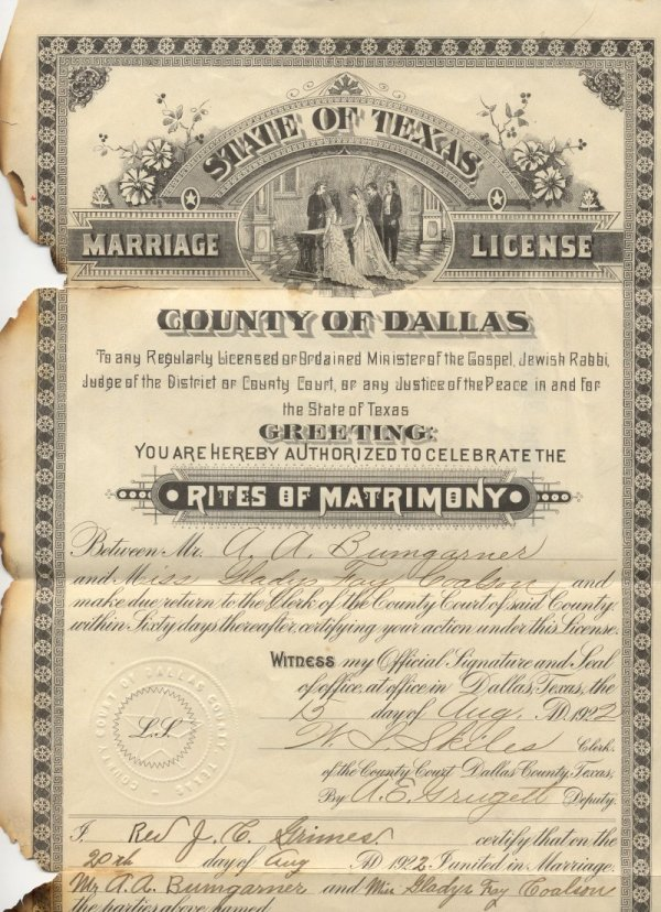 Change Your Name In Texas Marriage License Dallas County